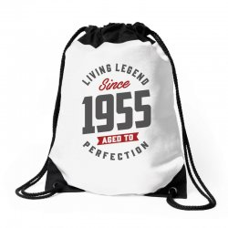 Since 1955 Aged To Perfection Drawstring Bags | Artistshot