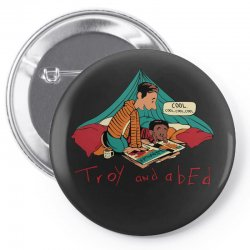 troy abed calvin Pin-back button | Artistshot