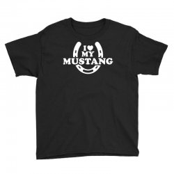 i love mustang Youth Tee | Artistshot