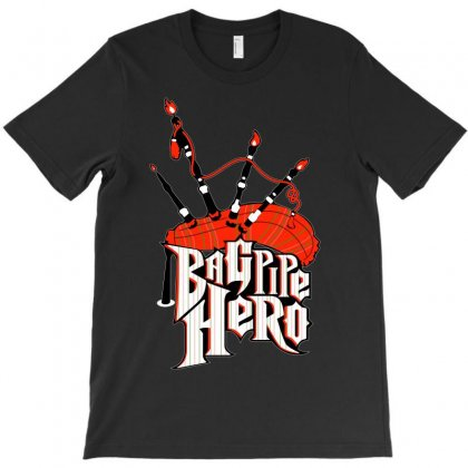 Bagpipe Hero T-shirt Designed By Shoptee
