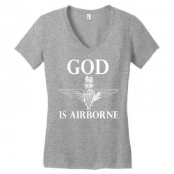 royal marines god is airborne Women's V-Neck T-Shirt | Artistshot
