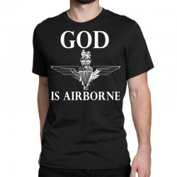 royal marines god is airborne Classic T-shirt | Artistshot