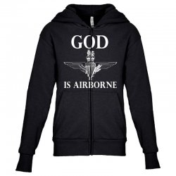 royal marines god is airborne Youth Zipper Hoodie | Artistshot