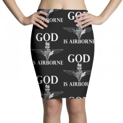 royal marines god is airborne Pencil Skirts | Artistshot