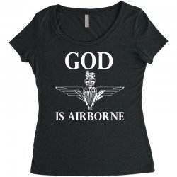 royal marines god is airborne Women's Triblend Scoop T-shirt | Artistshot