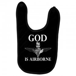 royal marines god is airborne Baby Bibs | Artistshot