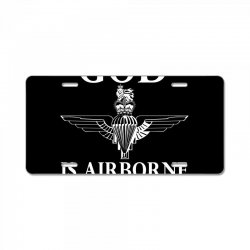 royal marines god is airborne License Plate | Artistshot