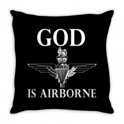royal marines god is airborne Throw Pillow | Artistshot