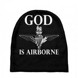 royal marines god is airborne Baby Beanies | Artistshot