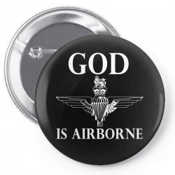 royal marines god is airborne Pin-back button | Artistshot