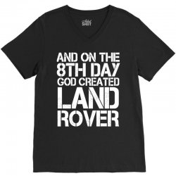 god created land rover V-Neck Tee | Artistshot