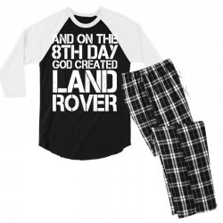 god created land rover Men's 3/4 Sleeve Pajama Set | Artistshot