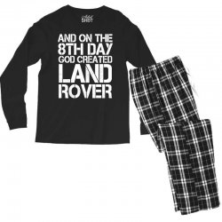 god created land rover Men's Long Sleeve Pajama Set | Artistshot