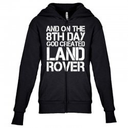 god created land rover Youth Zipper Hoodie | Artistshot