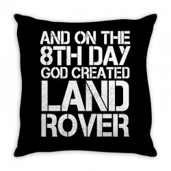 god created land rover Throw Pillow | Artistshot
