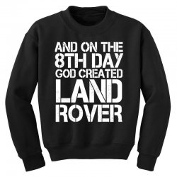 god created land rover Youth Sweatshirt | Artistshot