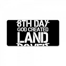 god created land rover License Plate | Artistshot