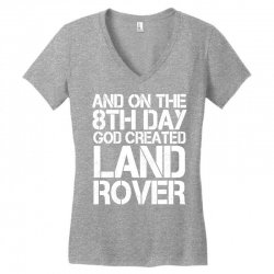 god created land rover Women's V-Neck T-Shirt | Artistshot