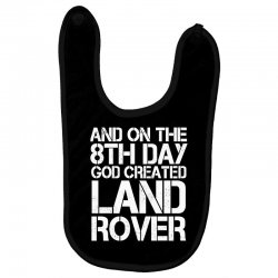 god created land rover Baby Bibs | Artistshot