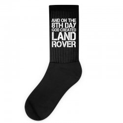 god created land rover Socks | Artistshot