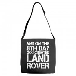 god created land rover Adjustable Strap Totes | Artistshot