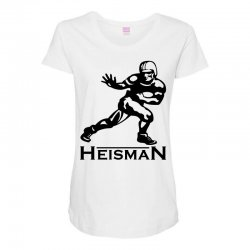 heisman Maternity Scoop Neck T-shirt | Artistshot