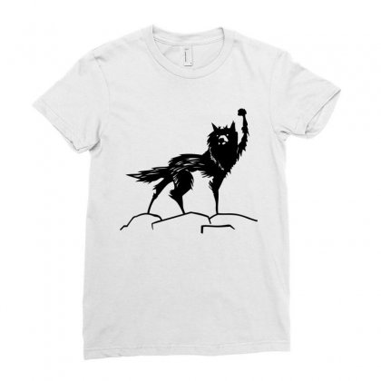 Fantastic Mr Fox Wolf Ladies Fitted T-shirt Designed By Allentees