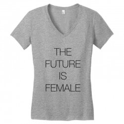 the future is female for light Women's V-Neck T-Shirt | Artistshot