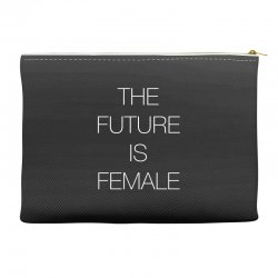 the future is female for dark Accessory Pouches | Artistshot