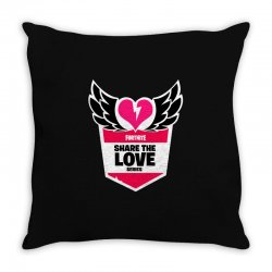 share the love series Throw Pillow | Artistshot