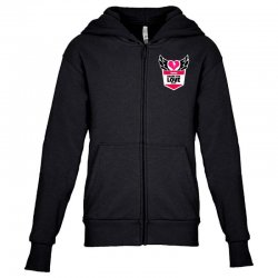 share the love series Youth Zipper Hoodie | Artistshot
