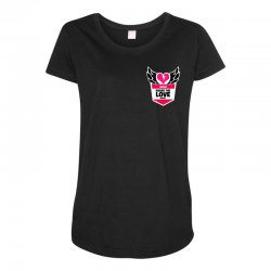 share the love series Maternity Scoop Neck T-shirt | Artistshot