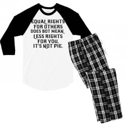 equal rights for light Men's 3/4 Sleeve Pajama Set | Artistshot