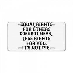 equal rights for light License Plate | Artistshot