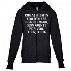 equal rights for dark Youth Zipper Hoodie | Artistshot