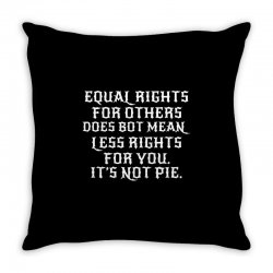 equal rights for dark Throw Pillow | Artistshot