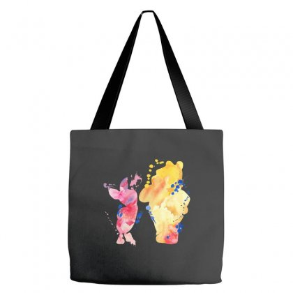 Watercolor Piglet And Winnie Pooh Tote Bags Designed By Sengul