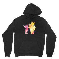 watercolor piglet and winnie pooh Unisex Hoodie | Artistshot