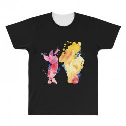 watercolor piglet and winnie pooh All Over Men's T-shirt | Artistshot
