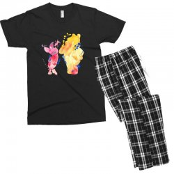 watercolor piglet and winnie pooh Men's T-shirt Pajama Set | Artistshot