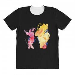 watercolor piglet and winnie pooh All Over Women's T-shirt | Artistshot