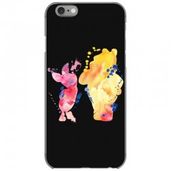 watercolor piglet and winnie pooh iPhone 6/6s Case | Artistshot