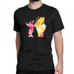 watercolor piglet and winnie pooh Classic T-shirt | Artistshot