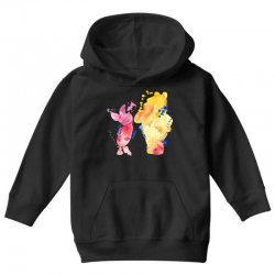 watercolor piglet and winnie pooh Youth Hoodie | Artistshot