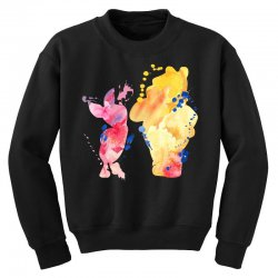 watercolor piglet and winnie pooh Youth Sweatshirt | Artistshot