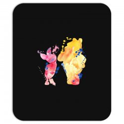 watercolor piglet and winnie pooh Mousepad | Artistshot
