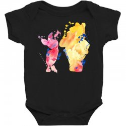watercolor piglet and winnie pooh Baby Bodysuit | Artistshot