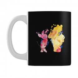 watercolor piglet and winnie pooh Mug | Artistshot