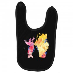 watercolor piglet and winnie pooh Baby Bibs | Artistshot