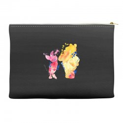 watercolor piglet and winnie pooh Accessory Pouches | Artistshot